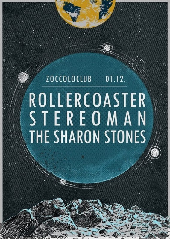 The Sharon Stones/Stereoman/Rollercoast @ Цоколь