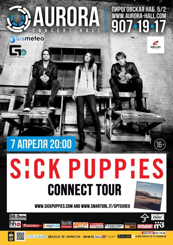 Sick Puppies @ AURORA CONCERT HALL