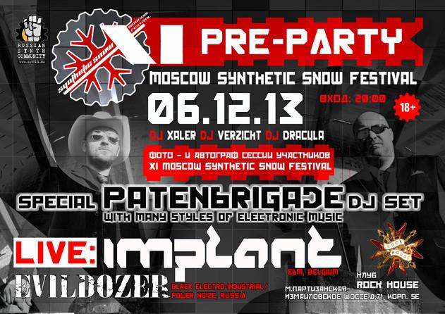 Synthetic Snow pre-party